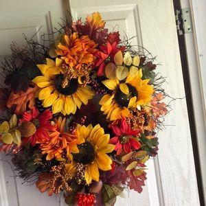 Fall door wreath